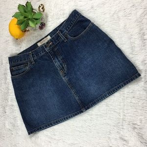Abercrombie & Fitch Denim Mini Skirt w/Pockets